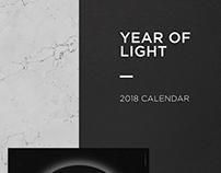 Year of light - 2018 Calendar
