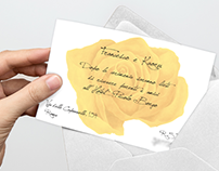 "Wedding Invitation ""Yellow Rose"""
