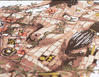 "Pixel Pancho's ""The Last Kiss"" screenprint"