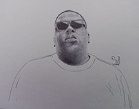"""""""The notorious B.I.G"""" with bic ballpointpen 21X29.7 cm"""