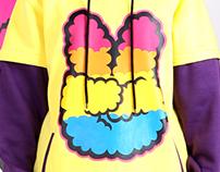 COTTON CANDY DJ Kangaroo 'Loly Poly' Snowboard hood