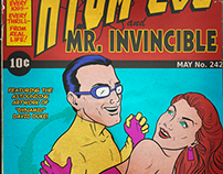 Invincible and Atom Eve - Golden Age style