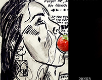 Woman And Strawberry