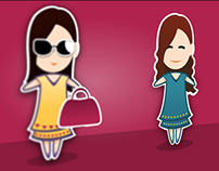 Character design little woman