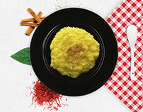 Zarparan Saffron Rice Pudding Branding