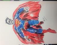 Superman Sketch, Free Comic Book Day