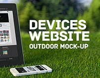Devices website outdoor Mock-up
