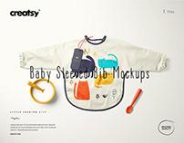 Baby Sleeved Bib Mockup Set (17/LFv.2)