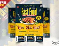 Fast Food Restaurant Promotion Flyer PSD