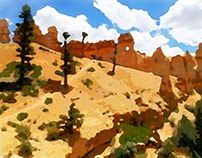 Bryce Canyon Watercolors - by Dane Shakespear