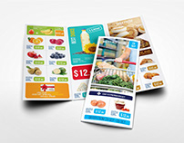 Supermarket Products Tri-Fold Catalog Brochure Vol.5