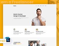 Free Freelancer Web Design PSD Template