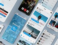 GabbyChat - Social App & Website UI Design