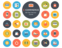 39 Free E-Commerce Flat Vector Icons
