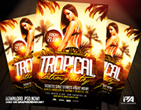Tropical Latin Party Flyer Template (download .psd)