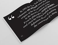 GRAPHIC DESIGN | Bodoni Type Specimen