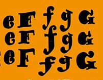 Big, Bold & Chunky Typeface Design