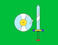 Sword + Vinyl shield for Ellie Herring