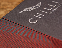 CHILLI jewellery letterpress cards
