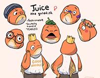 goldfish character design
