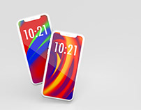 Free smartphone mockup front view