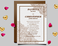 Designer Wedding Invitation card