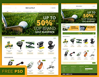 FREE psd file of Magento E-Commerce page template