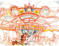 Carousels of NYC (sketchbook)