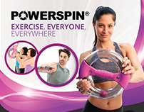Powerspin - Product Box & Website Design