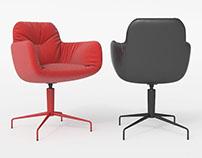 3d model LEYA Low Armchair