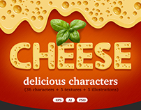 Cheese delicious characters