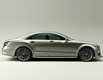 Personal CGI Project: Mercedes in the Studio