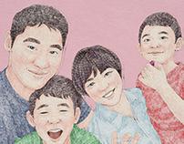 2017, Family portrait, illustration