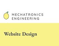 Mechatronics Engineering Webdesign