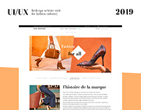 Redesign of the Fashion website
