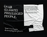 Dear (Climate) Privileged People