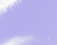 月と猫と雲と