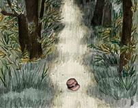 Caminos de retorno. Ilustración para libro.