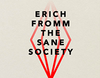 Erich Fromm - The Sane Society book cover design