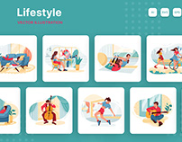 M174_Lifestyle Illustration Pack