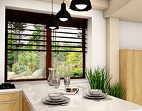 Kitchen design - House in Gdynia Big Kack