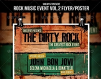 Rock Music Event Flyer / Poster Vol.2