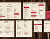 Joe's Italian Restaurant Menu