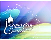 Vector ramadan kareem mosque logo