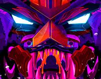 Monster x Oscar Creativo vector 2d