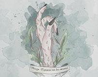 """Illustration """"Traigo espinas en las manos"""""""