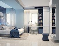 Blue Bed Room