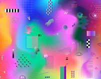 Summertime nightclub artwork concept