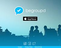 Begroupd group messaging app website design (COPY)