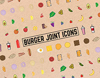 Burger Joint Icons set